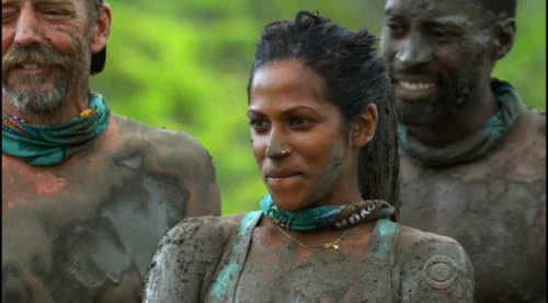 Trying to determine if she can trade a Hidden Immunity Idol, a lock of Alec's hair and Baylor to Jeff in exchange for an extra U-Turn